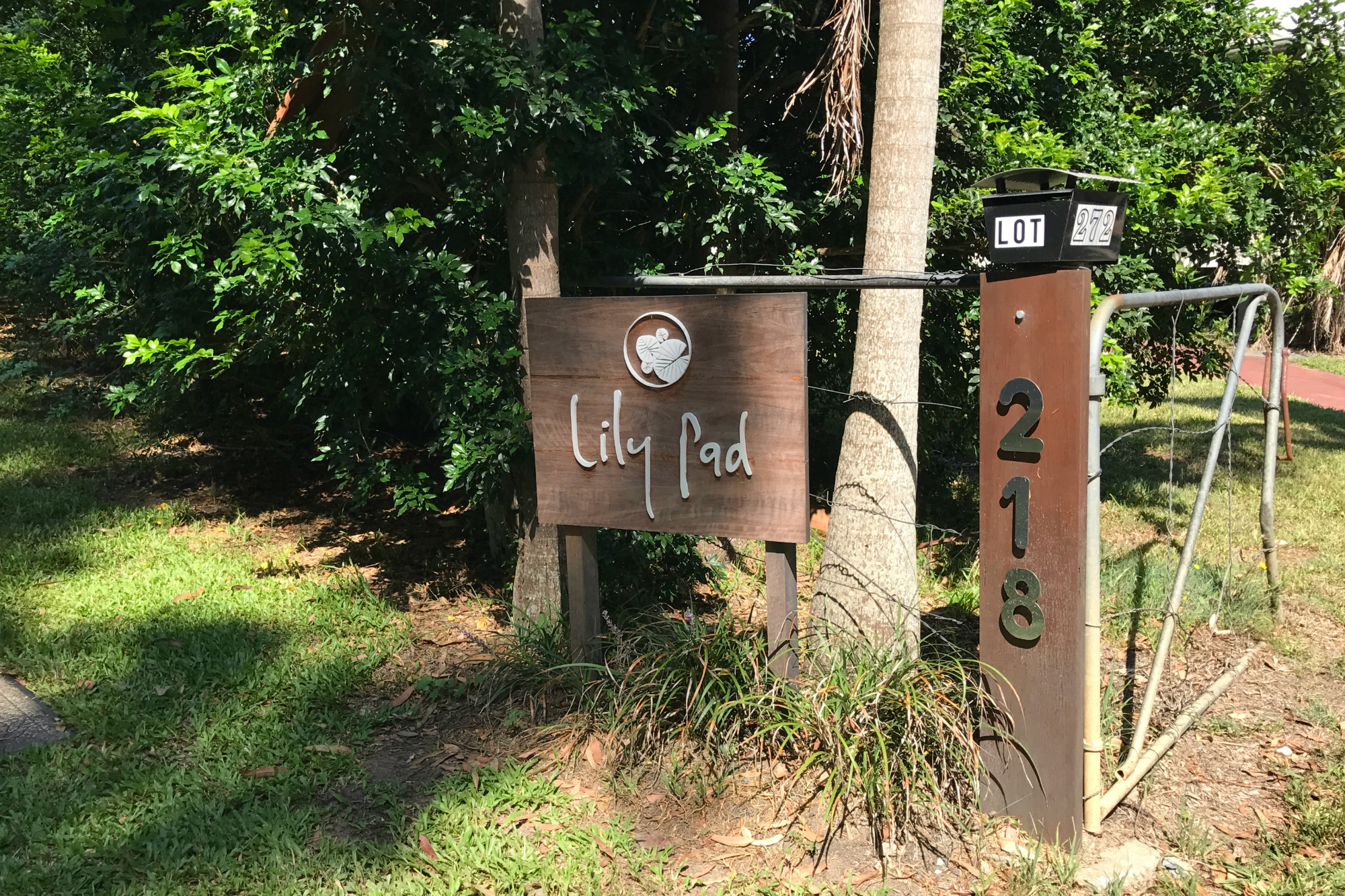 Lily Pad Entry Sign