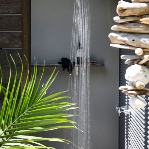 Outdoor Shower at The Lily Pad at Byron